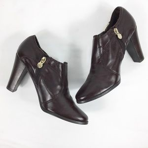 Etienne Aigner Brown Ankle Bootie
